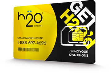 $5.0000 H2O Wireless® Prepaid Wireless SIM Cards