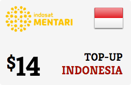 $14.00 Mentari Indosat Indonesia Prepaid Wireless Top-Up