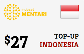 $27.00 Mentari Indosat Indonesia Prepaid Wireless Top-Up