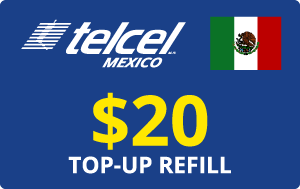 Buy the $20.00 Telcel Mexico® Real Time Refill Minutes | On SALE for Only $20.00