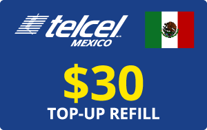 Buy the $30.00 Telcel Mexico® Real Time Refill Minutes | On SALE for Only $30.00