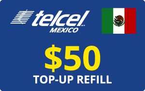 Buy the $50.00 Telcel Mexico® Real Time Refill Minutes | On SALE for Only $50.00