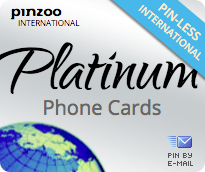 $10.0000 PINZOO Platinum International & Domestic Phone Cards & Calling Cards