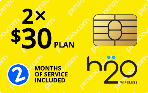 $40.0000 H2O Wireless® Prepaid Wireless SIM Cards