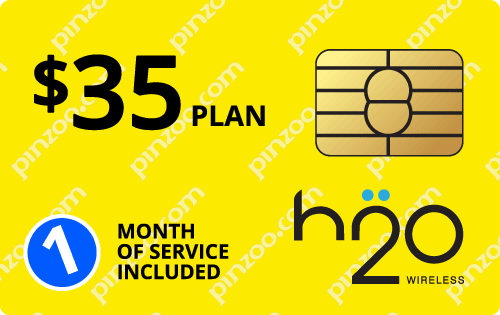 $25.0000 H2O Wireless® Prepaid Wireless SIM Cards