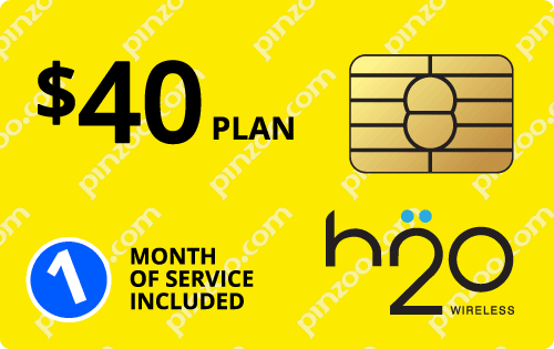 $30.0000 H2O Wireless® Prepaid Wireless SIM Cards