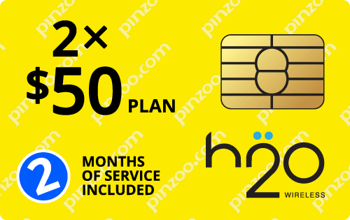 $80.0000 H2O Wireless® Prepaid Wireless SIM Cards