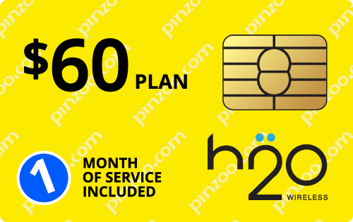 $50.0000 H2O Wireless® Prepaid Wireless SIM Cards