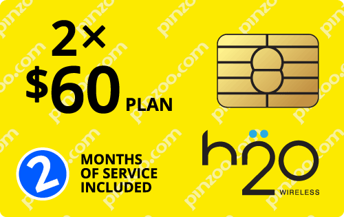 $100.0000 H2O Wireless® Prepaid Wireless SIM Cards