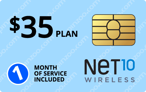 $45.00 Net10® Prepaid Wireless SIM Cards