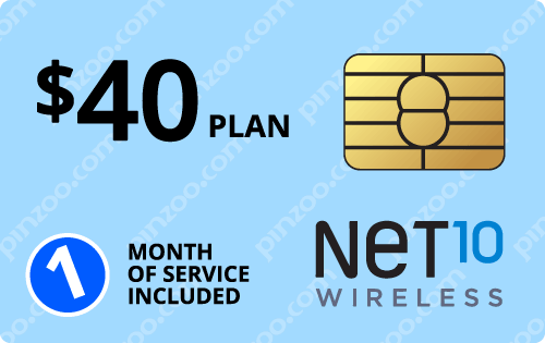 $50.00 Net10® Prepaid Wireless SIM Cards