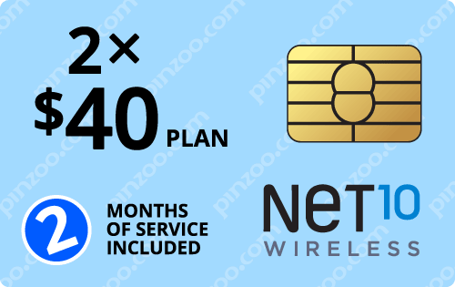 $90.00 Net10® Prepaid Wireless SIM Cards
