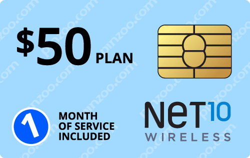 $60.00 Net10® Prepaid Wireless SIM Cards