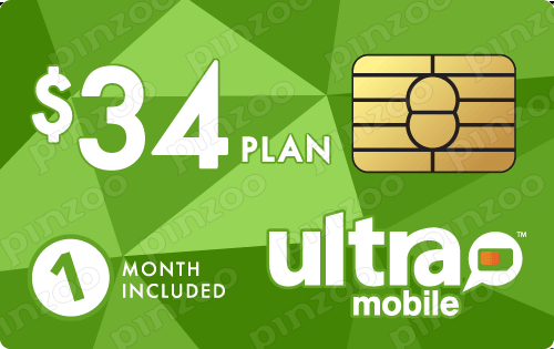 $44.00 Ultra Mobile® Prepaid Wireless SIM Cards