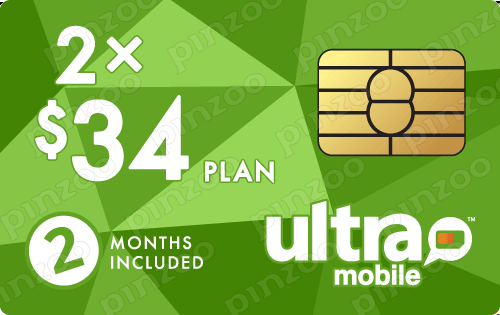 $78.00 Ultra Mobile® Prepaid Wireless SIM Cards
