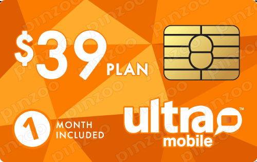 $49.00 Ultra Mobile® Prepaid Wireless SIM Cards