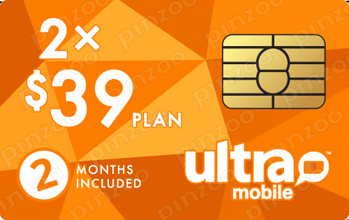 $88.00 Ultra Mobile® Prepaid Wireless SIM Cards