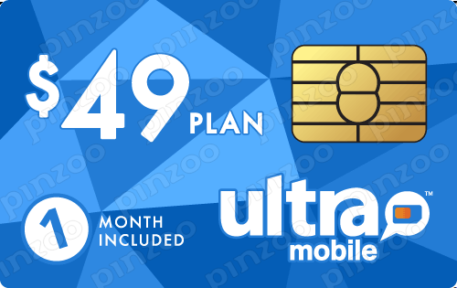 $59.00 Ultra Mobile® Prepaid Wireless SIM Cards
