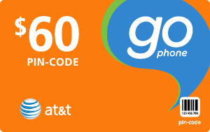 $59.79 AT&T Go Phone® Refill Minutes Instant Prepaid Airtime