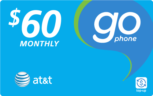 Buy the $60.00 AT&T Go Phone® Real Time Refill Minutes | On SALE for Only $59.69