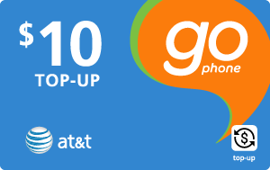 Buy the $10.00 AT&T Go Phone® Real Time Refill Minutes | On SALE for Only $9.95