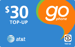 Buy the $30.00 AT&T Go Phone® Real Time Refill Minutes | On SALE for Only $29.89