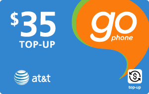 Buy the $35.00 AT&T Go Phone® Real Time Refill Minutes | On SALE for Only $34.89