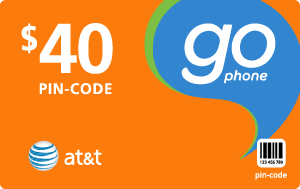 Buy the $40.00 AT&T Go Phone® Refill Minutes Instant Prepaid Airtime | On SALE for Only $39.89