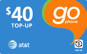 $39.89 AT&T Go Phone® Real Time Refill Minutes