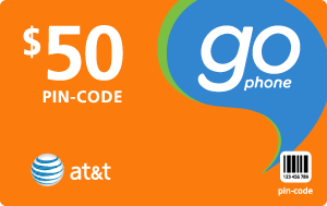 Buy the $50.00 AT&T Go Phone® Refill Minutes Instant Prepaid Airtime | On SALE for Only $49.78