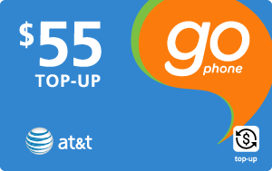 $54.79 AT&T Go Phone® Real Time Refill Minutes