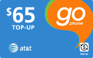 Buy the $65.00 AT&T Go Phone® Real Time Refill Minutes | On SALE for Only $64.59