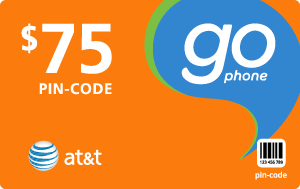 Buy the $75.00 AT&T Go Phone® Refill Minutes Instant Prepaid Airtime | On SALE for Only $74.68