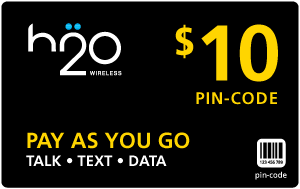$9.99 H2O Wireless® Refill Minutes Instant Prepaid Airtime