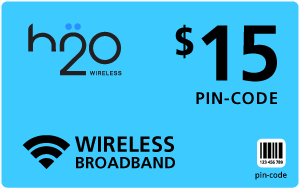 Buy the $15.00 H2O Wireless® Refill Minutes Instant Prepaid Airtime | On SALE for Only $14.79