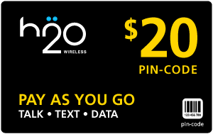 Buy the $20.00 H2O Wireless® Refill Minutes Instant Prepaid Airtime | On SALE for Only $19.95