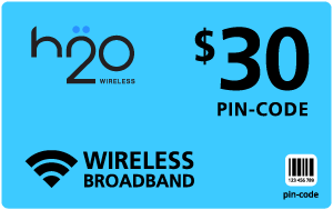 Buy the $30.00 H2O Wireless® Refill Minutes Instant Prepaid Airtime | On SALE for Only $29.59