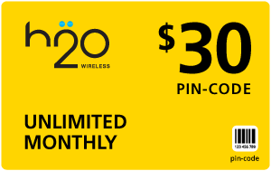 Buy the $30.00 H2O Wireless® Refill Minutes Instant Prepaid Airtime | On SALE for Only $29.89