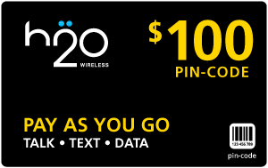 $99.49 H2O Wireless® Refill Minutes Instant Prepaid Airtime