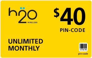 Buy the $40.00 H2O Wireless® Refill Minutes Instant Prepaid Airtime | On SALE for Only $39.89