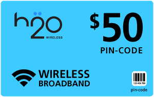 Buy the $50.00 H2O Wireless® Refill Minutes Instant Prepaid Airtime | On SALE for Only $49.28