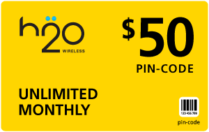 $49.79 H2O Wireless® Refill Minutes Instant Prepaid Airtime