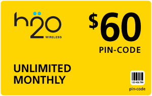 $59.79 H2O Wireless® Refill Minutes Instant Prepaid Airtime