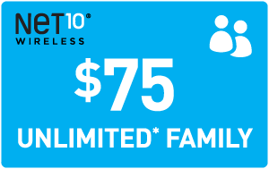 $75.00 Net10® Refill Minutes Instant Prepaid Airtime