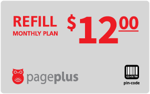 Buy the $12.00 Page Plus® Refill Minutes Instant Prepaid Airtime | On SALE for Only $12.00