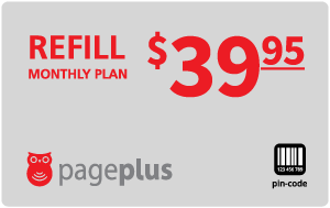 $39.95 Page Plus® Refill Minutes Instant Prepaid Airtime