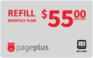 Buy the $55.00 Page Plus® Refill Minutes Instant Prepaid Airtime | On SALE for Only $55.00
