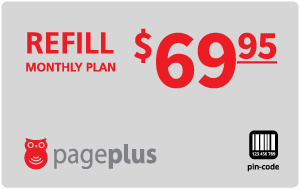 $69.95 Page Plus® Refill Minutes Instant Prepaid Airtime