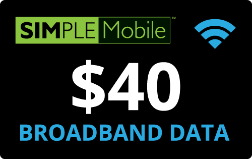 $40.00 Simple Mobile® Refill Minutes Instant Prepaid Airtime