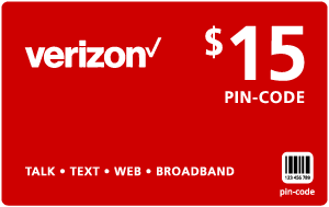 Buy the $15.00 Verizon Wireless® Refill Minutes Instant Prepaid Airtime | On SALE for Only $14.95